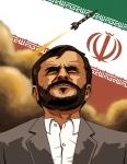 Mahmoud Ahmadinejad President of Iran Illustration Portrait