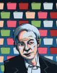 Julian Assange Wikileaks Portrait Illustration