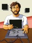 Aaron Mitchell Self Portrait Illustration