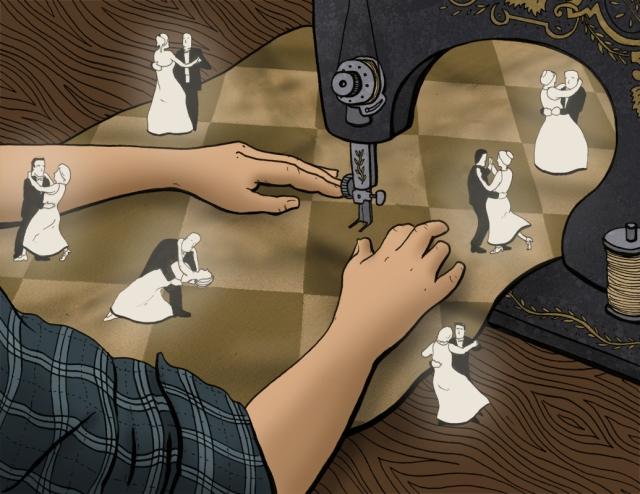 Cinderella Sewing Illustratuon