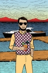 Maine Tourist Illustration