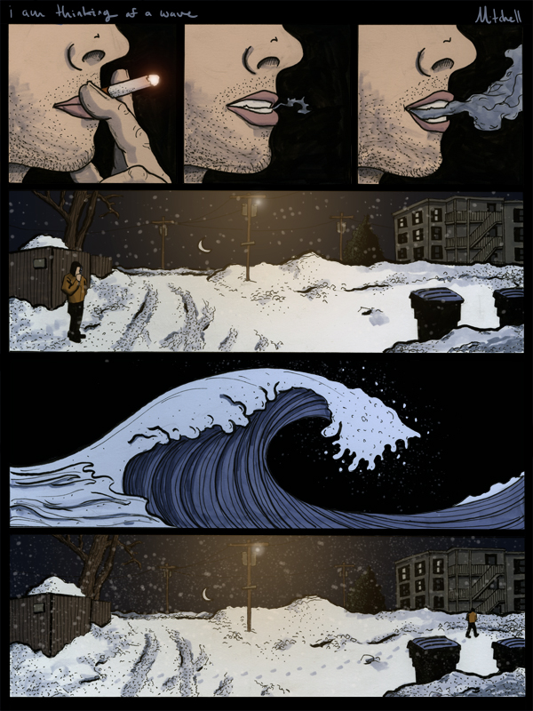 I am Thinking of a wave jim carroll comic page aaron mitchell