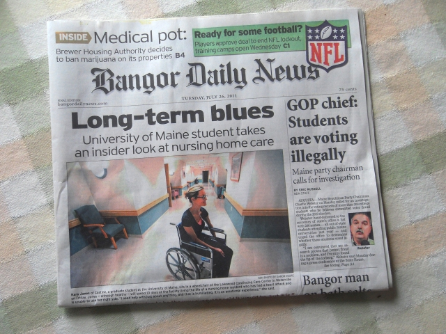 Bangor Daily News Front Page
