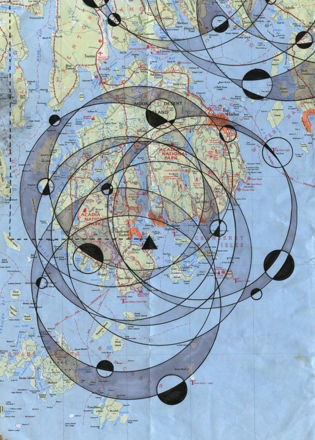 mount desert island mdi circular map aaron mitchell web